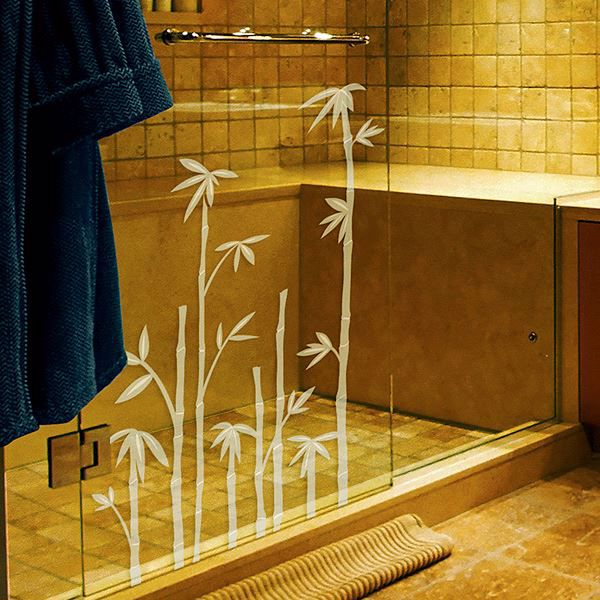 Bamboo Etched Glass