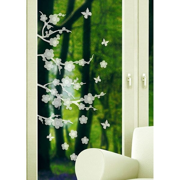 Blossom Etched Glass