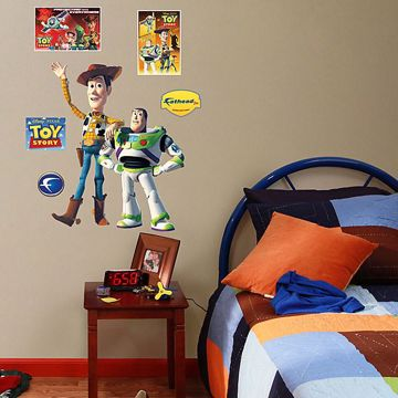 Toy Story Fathead Jr Woody Buzz