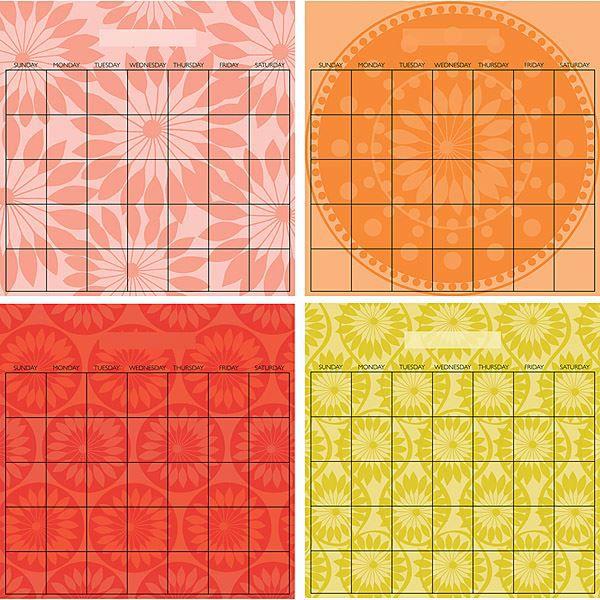 Carnivalé 4 Piece Calendar Set