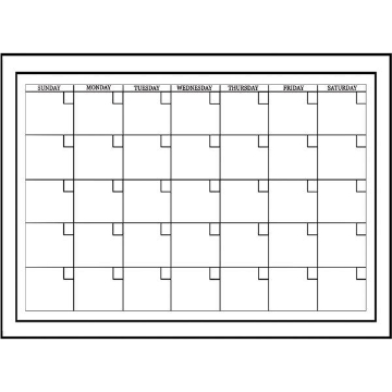 White Board Dry Erase Calendar