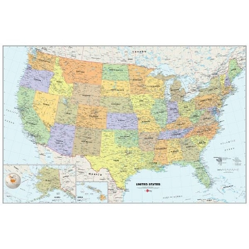 USA Dry-Erase Map