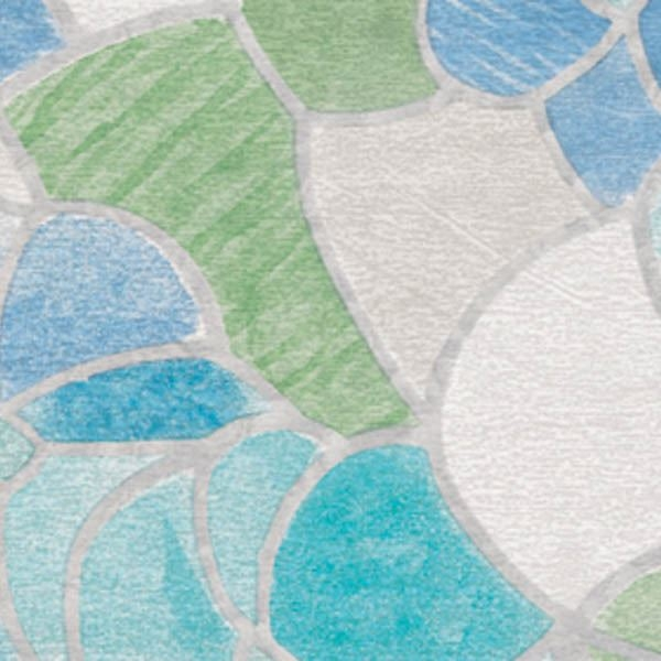 Blue & Green Stained Glass