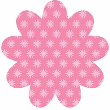 Daisy Pink Dry-Erase Shape