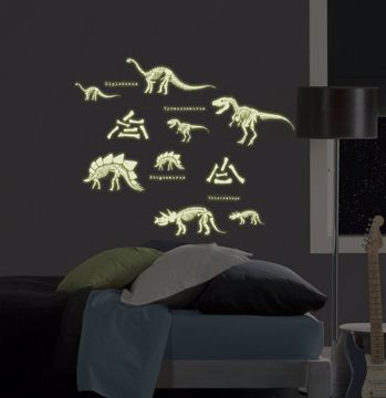 Dinosaurs Glow in the Dark Wall Art Kit