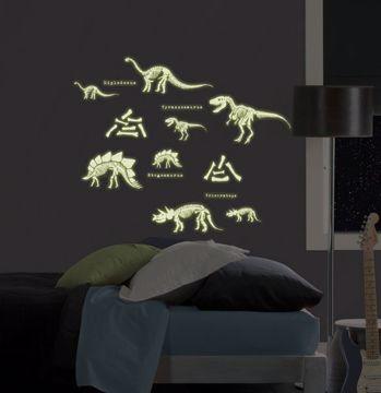 Dinosaurs Glow in the Dark Wall Art Kit