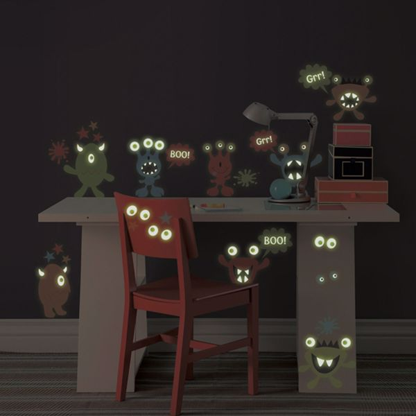 Monsters Glow in the Dark Wall Art Kit