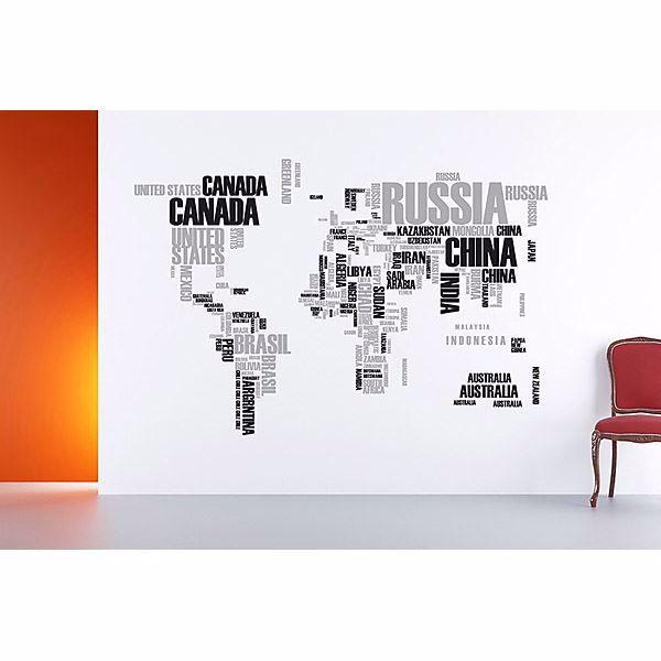 Textual World Map