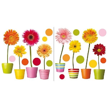 Gerberas Flowers Window Decals
