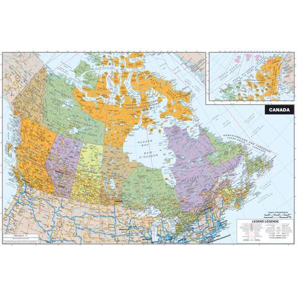 Map Of Canada On World Map.Canada Dry Erase Map