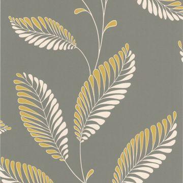 Aubrey Grey Modern Leaf Trail