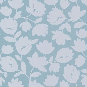 Freesia Light Grey Fun Floral