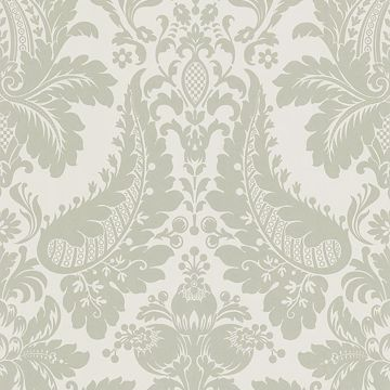 Lopeka Light Grey Modern Damask