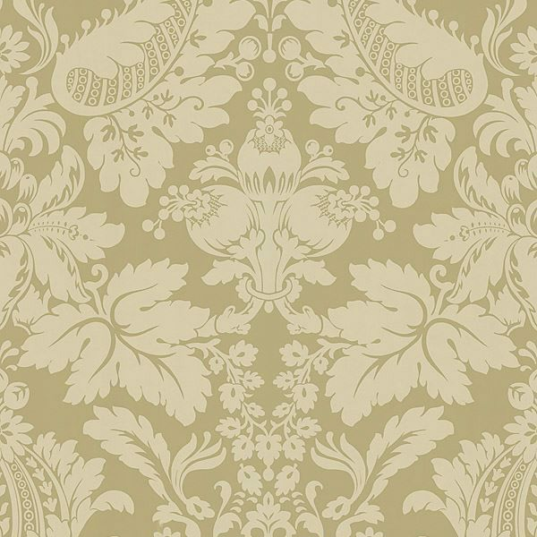 Lopeka Light Brown Modern Damask