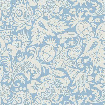 Bali Blue Scrolling Pattern