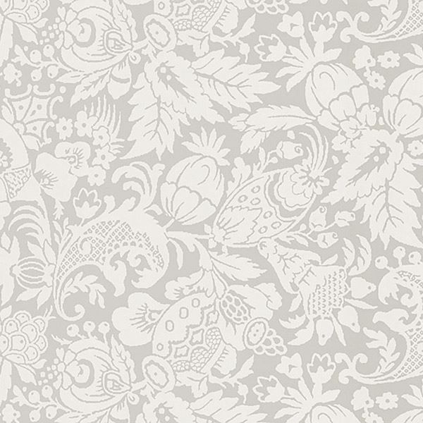 Bali Light Grey Scrolling Pattern