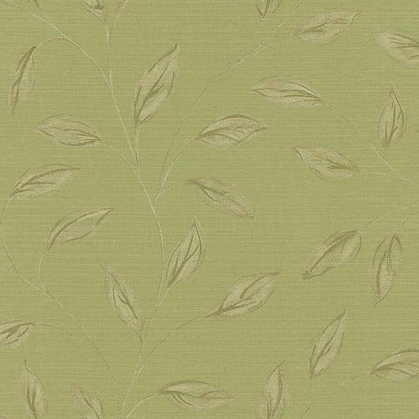 Elspeth Green Metallic Leaf