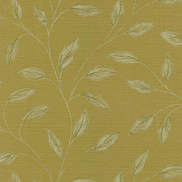 Elspeth Mustard Metallic Leaf