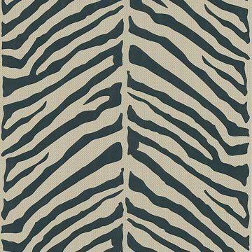 Tailored Zebra Black Herringbone Zebra