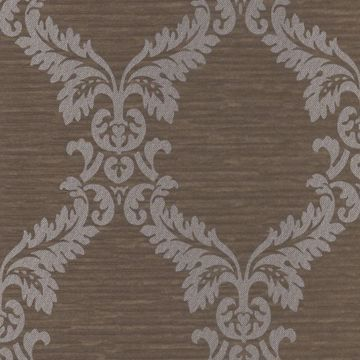 Siri Brown Damask Crepe