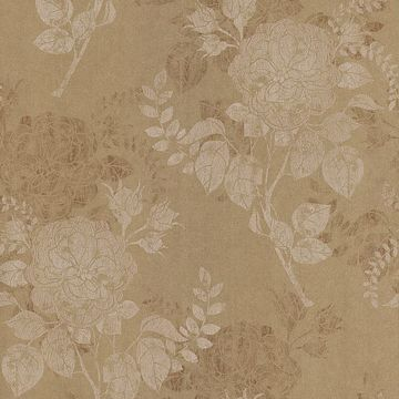 Astrud Gold Turquise Floral