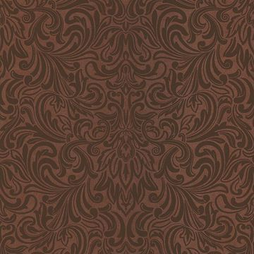 Royale Copper Wavy Damask