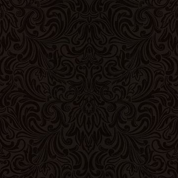 Royale Brown Wavy Damask