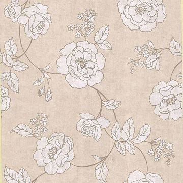 Madelaine Beige Outline Rose