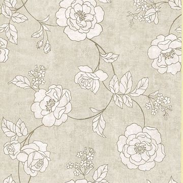 Madelaine Taupe Outline Rose
