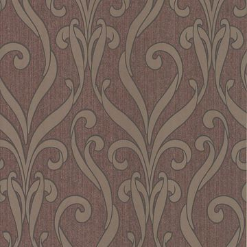 Medusa Burgundy Swirl Modern Damask