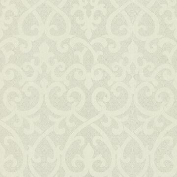 Giselle Light Green Ironwork Damask