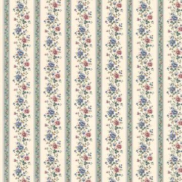 Laura Green Floral Stripe
