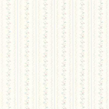 Rachel Blue Floral Stripe