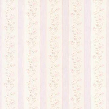 Emma Lavender Floral Stripe