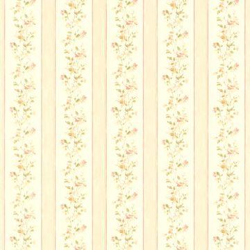 Emma Peach Floral Stripe