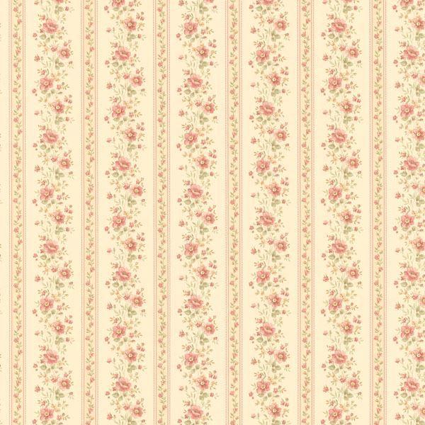 Laura Beige Floral Stripe
