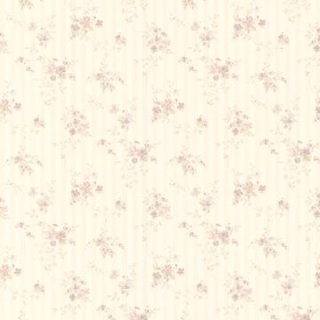 Laurie Lavender Floral Stripe