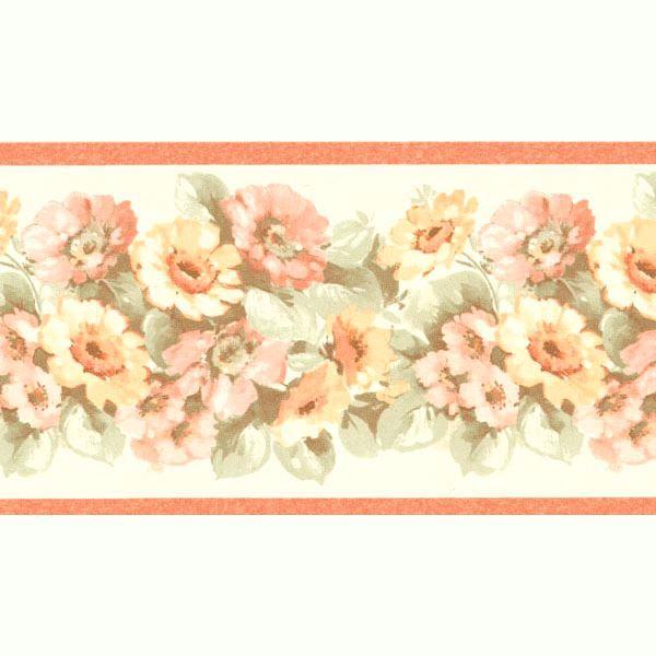 Maryanne Peach Floral Garden Border