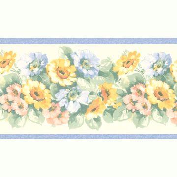 Maryanne Periwinkle Floral Garden Border