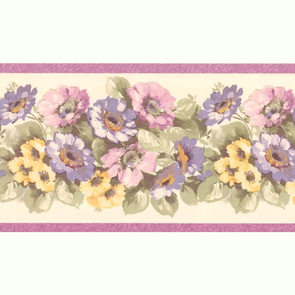 Maryanne Purple Floral Garden Border