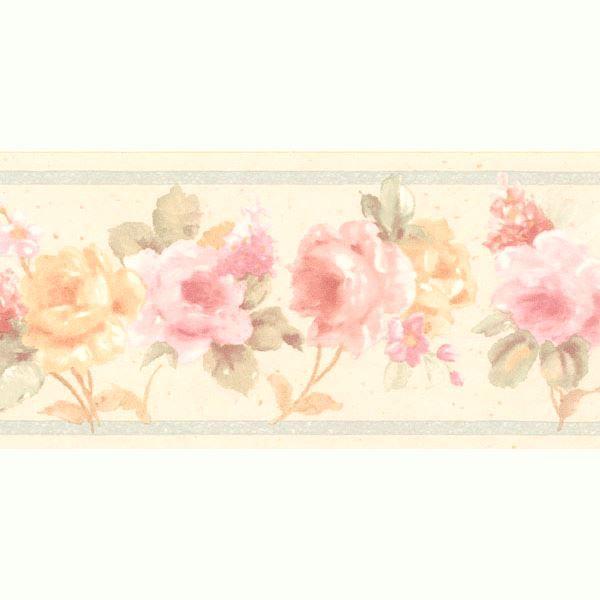 Luanne Pink Floral Border