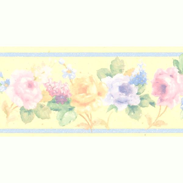 Luanne Yellow Floral Border