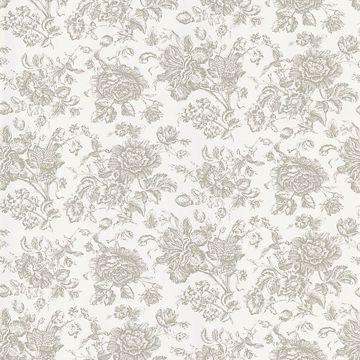 Pavot White Floral Toile