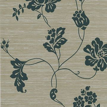 Amizmiz Taupe Floral Trail