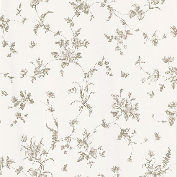 Vivace Taupe Floral Trail