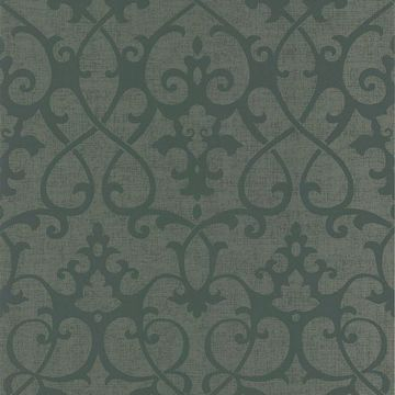 Octavia Brown Damask Swirl
