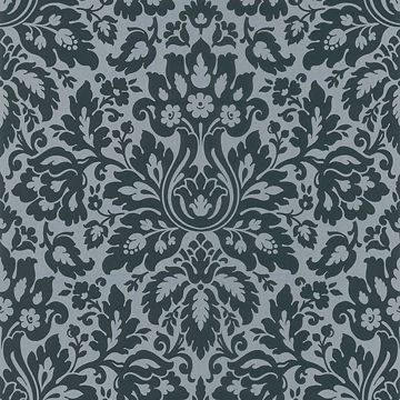 Mirza Black Damask