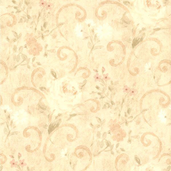 Uma Beige Floral Scroll