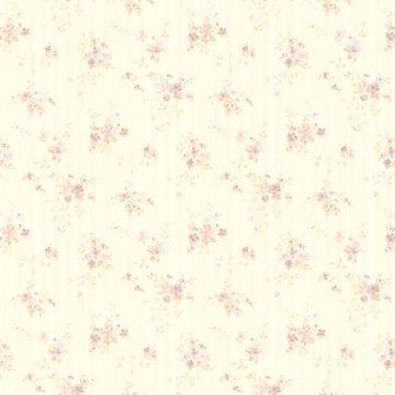 Delilah Mauve Floral Stripe
