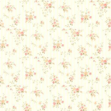 Delilah Peach Floral Stripe
